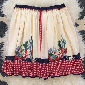 Anthropologie Anna Sui Desert Picnic Skirt